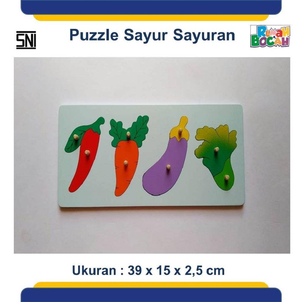 Jual Mainan Puzzle Anak Sayuran