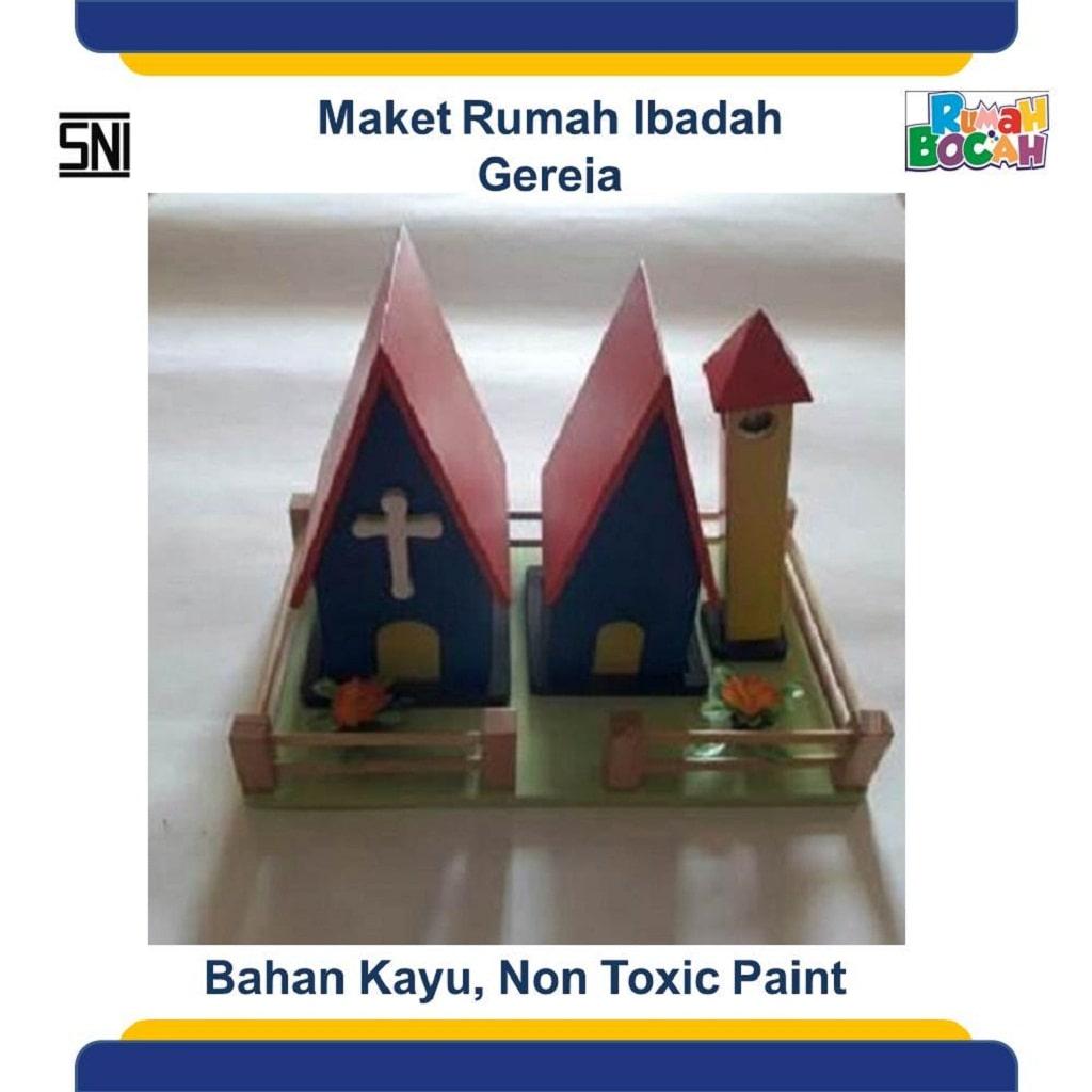 Jual Mainan Edukasi Untuk Balita Maket Miniatur Rumah Ibadah Gereja