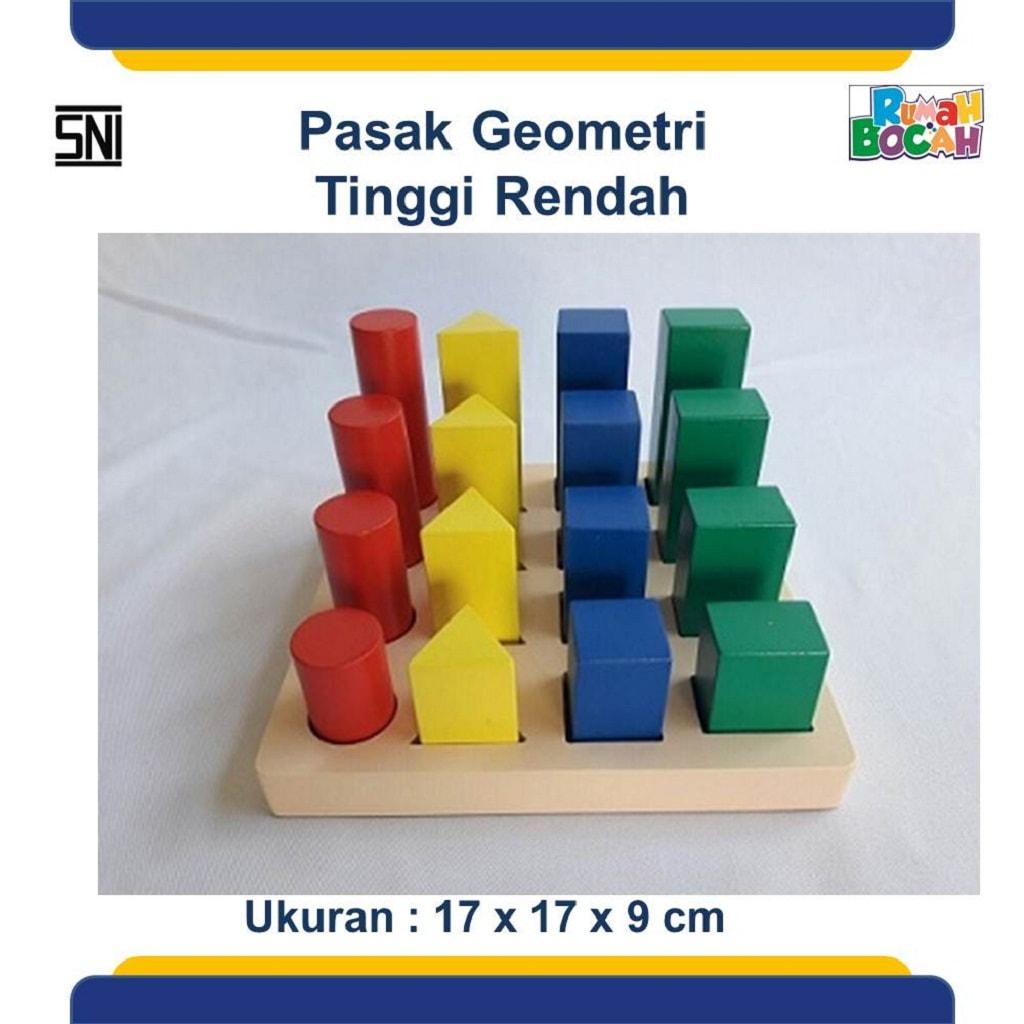 Toko Mainan Balok Pasak Geometri Tinggi Rendah