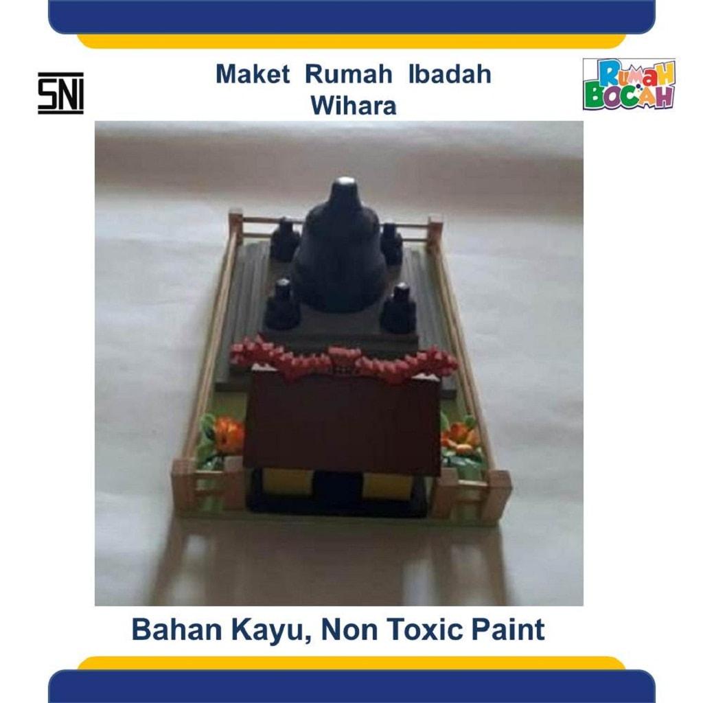 Jual Mainan Kayu Edukatif Maket Miniatur Rumah Ibadah Wihara