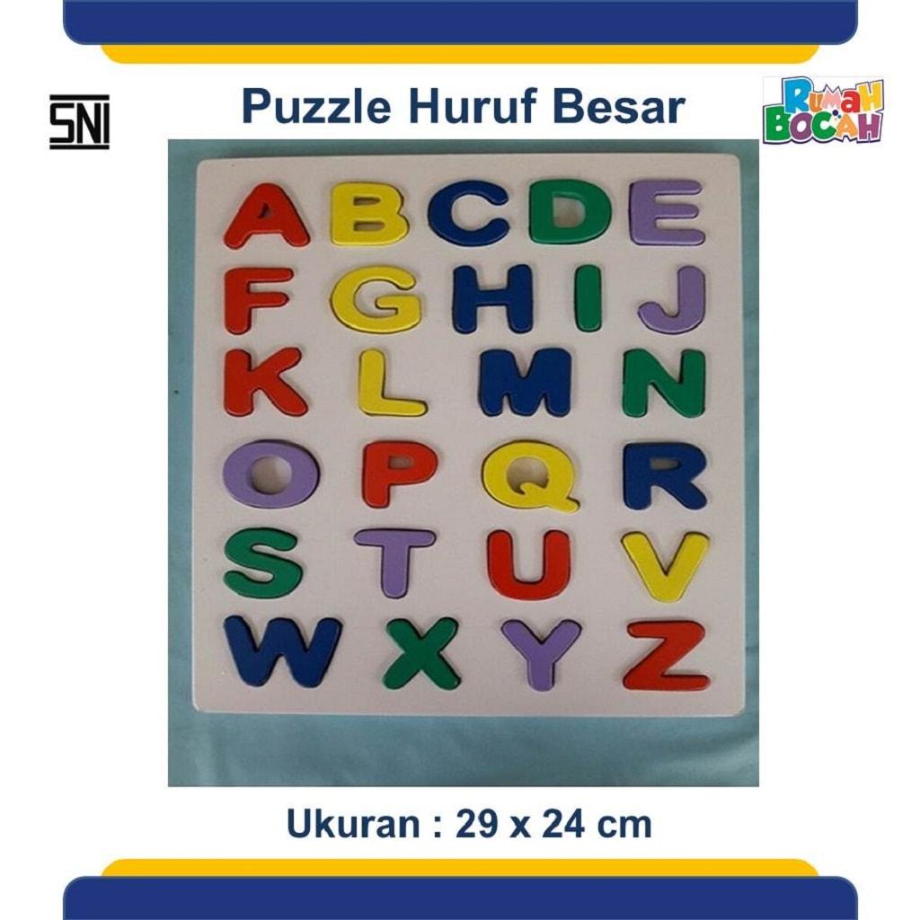 Jual Puzzle Kayu Anak Huruf Besar