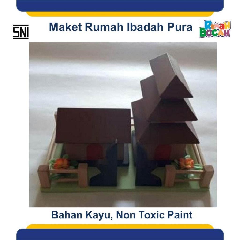 Toko Mainan Edukasi Maket Miniatur Rumah Ibadah Pura