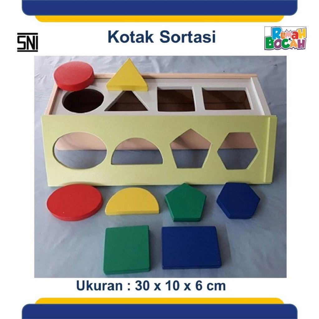 Jual Mainan Kayu Kotak Sortasi