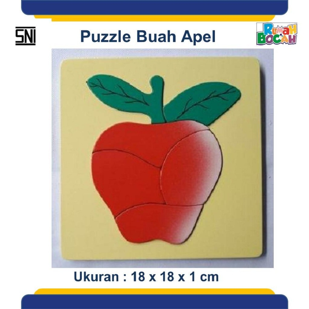 Jual Puzzle Kayu Anak Buah Apel