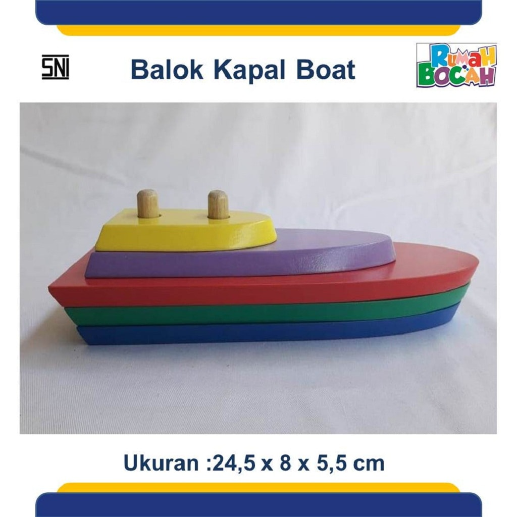 Pusat Mainan Edukasi Anak Balok Kapal Boat