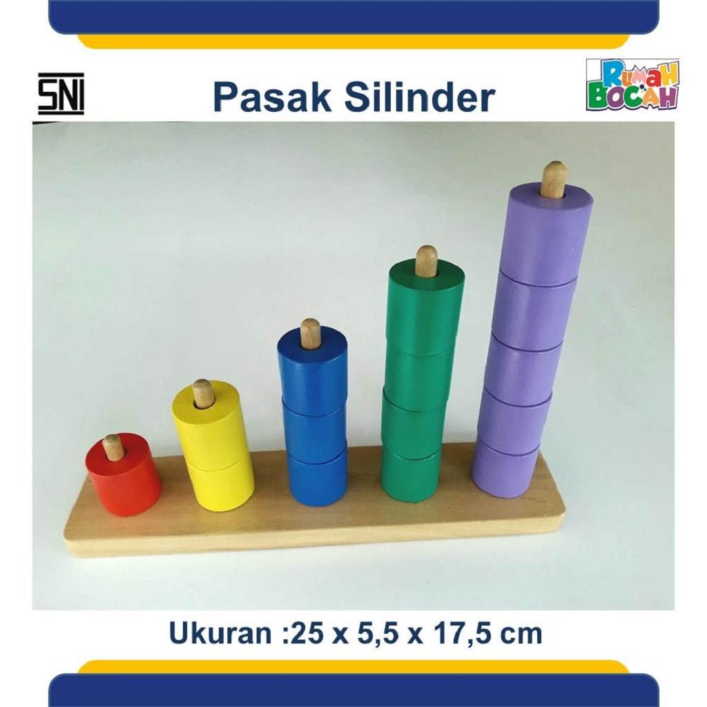 Grosir Mainan Edukatif Pasak Silinder