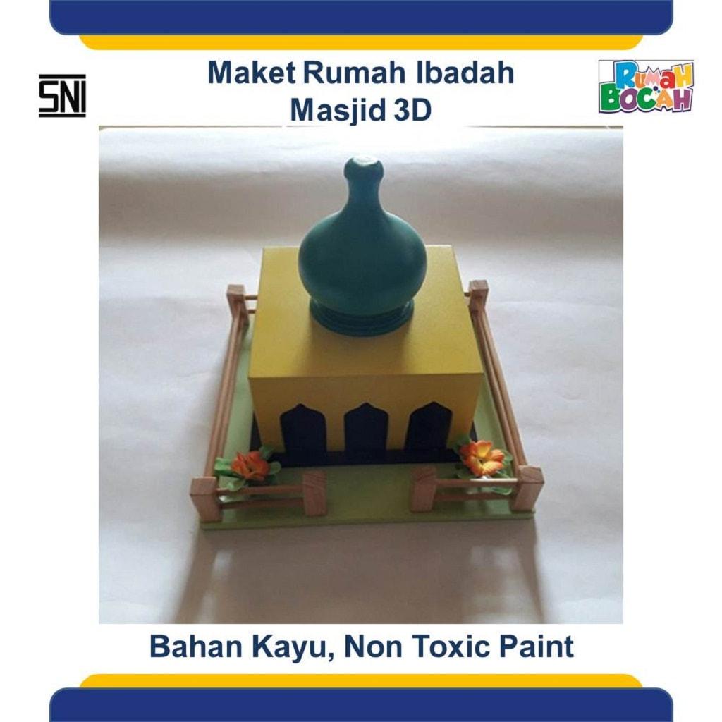 Toko Online Mainan Edukatif Anak Maket Miniatur Rumah Ibadah Masjid