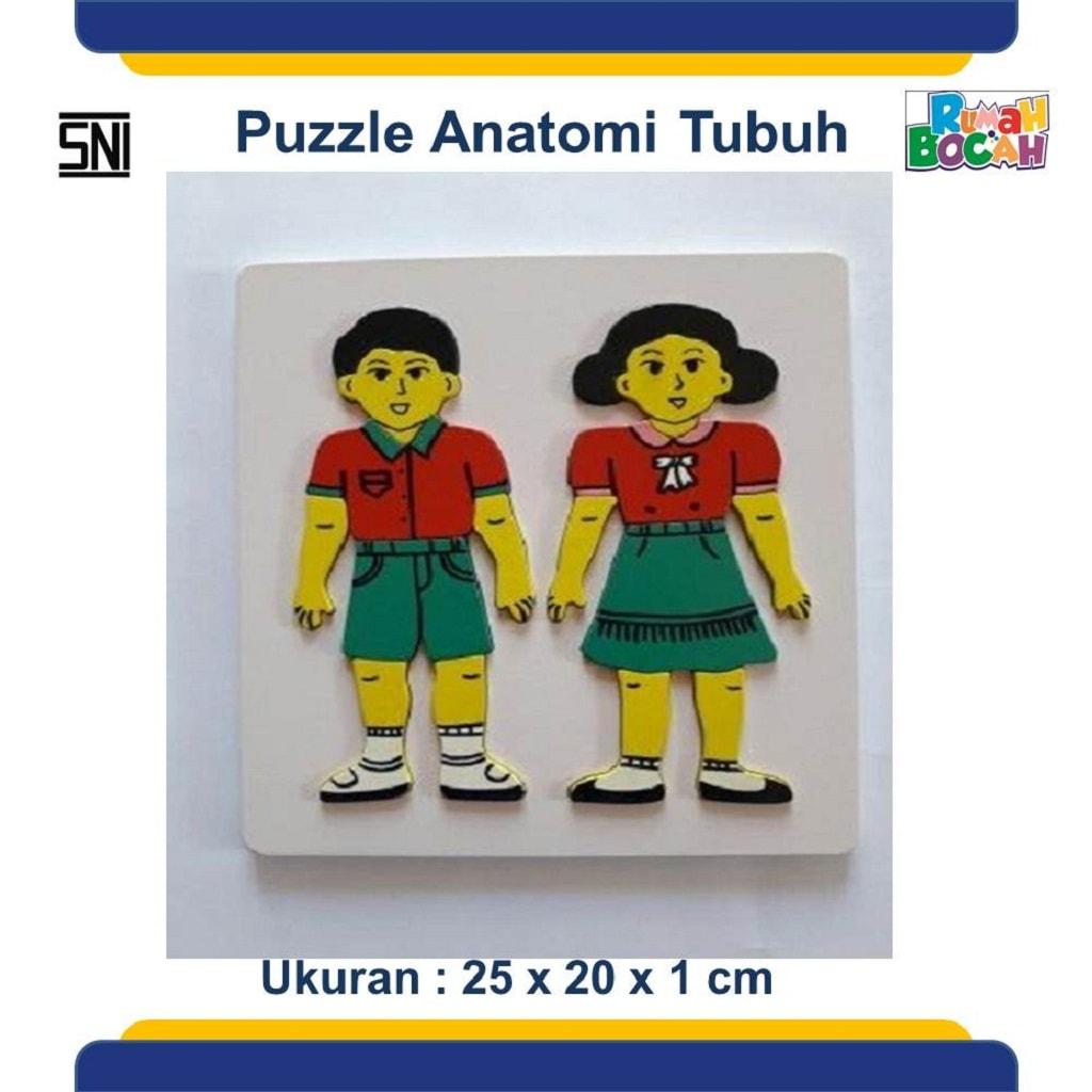 Jual Mainan Puzzle Kayu Puzzle Anatomi Tubuh