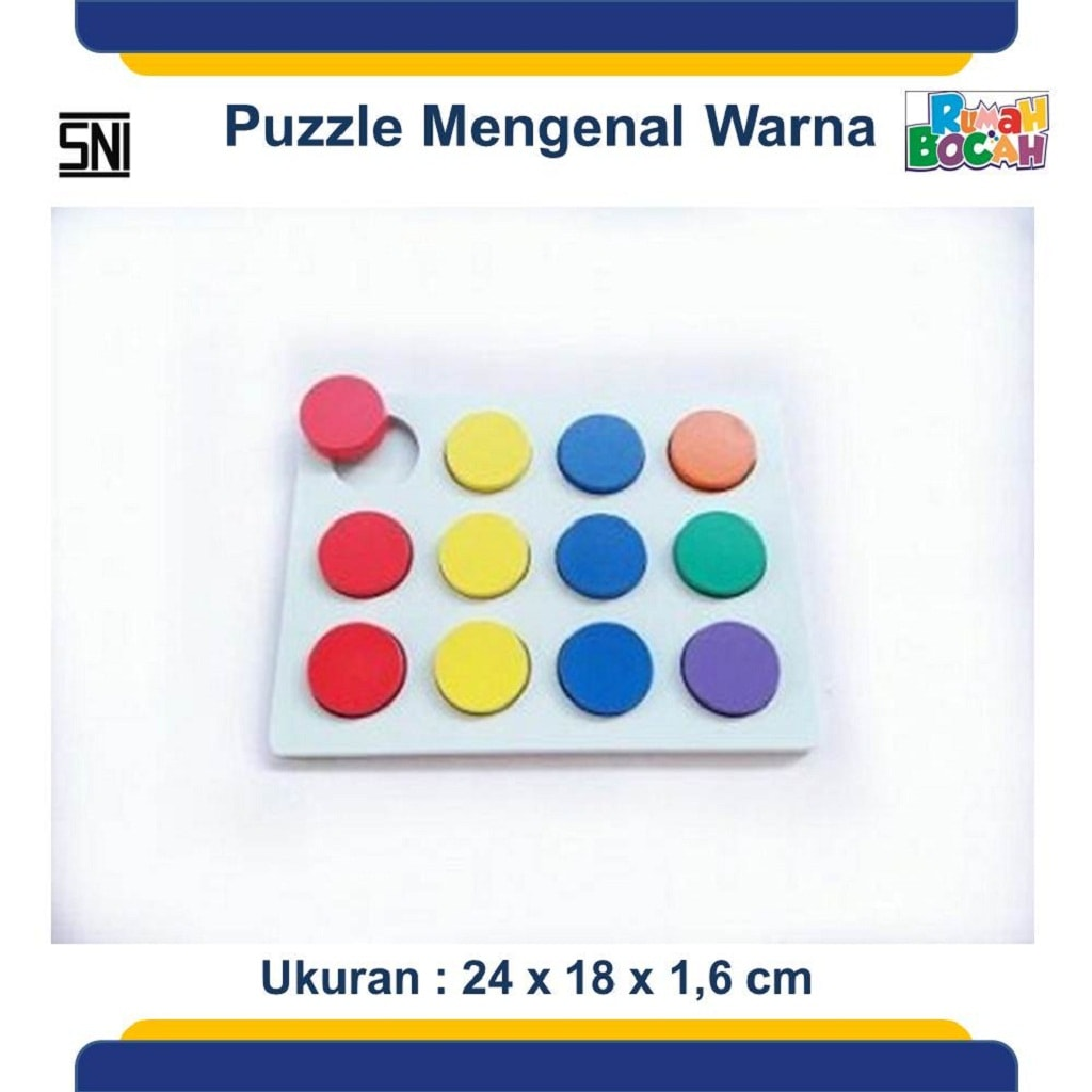 Jual Puzzle Kayu Murah Mengenal Warna