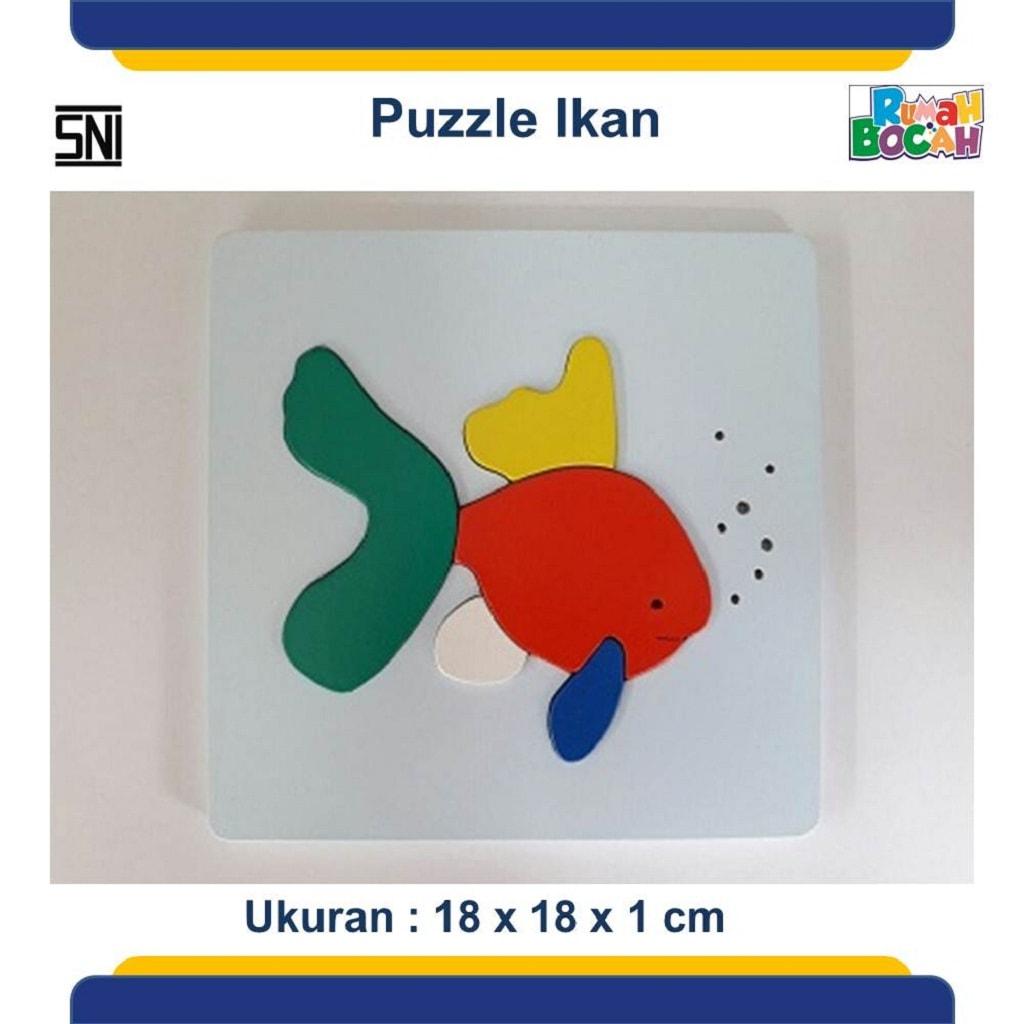 Grosir Puzzle Kayu Hewan Ikan