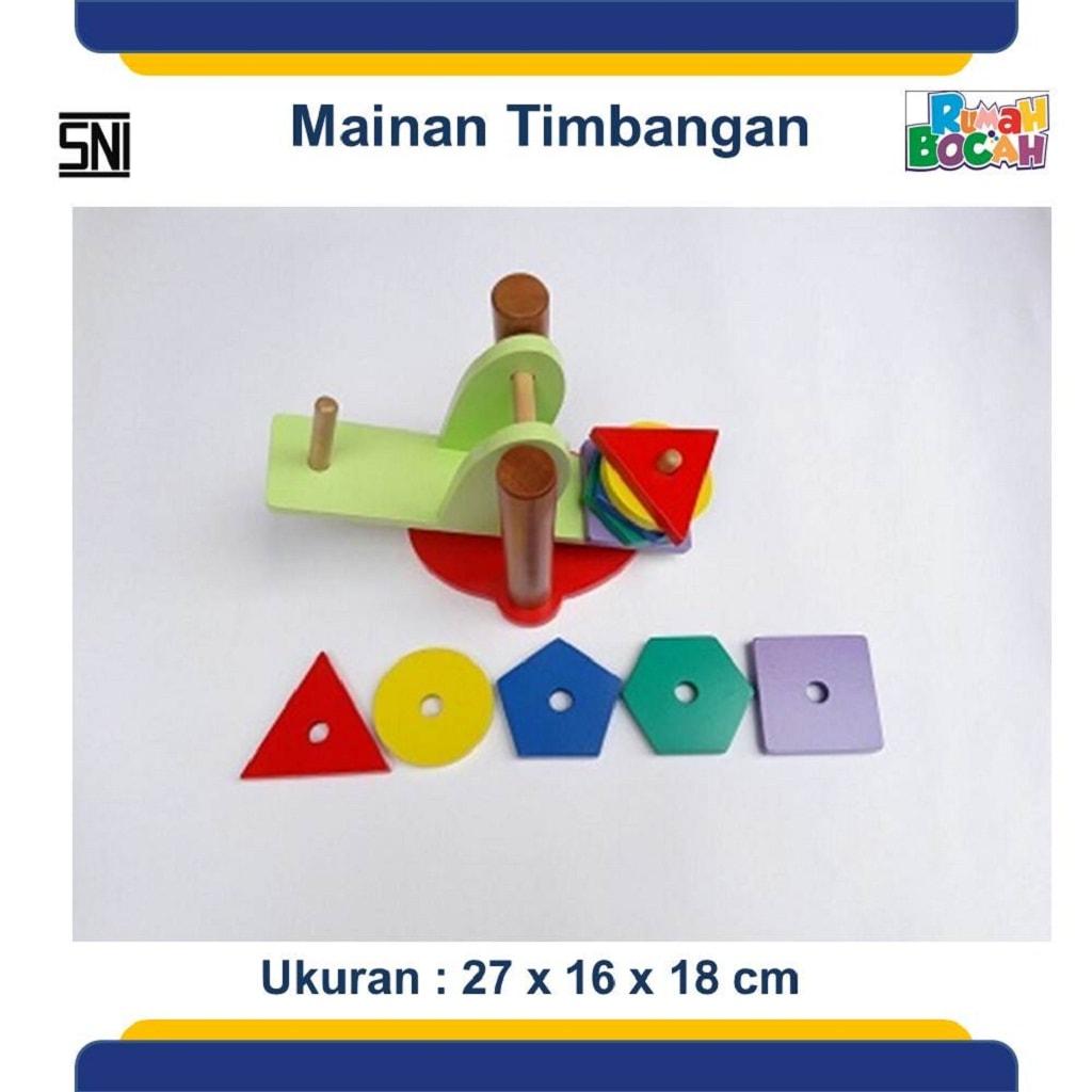 Jual Mainan Kayu Edukatif Murah Dan Berkualitas Timbangan Geometri