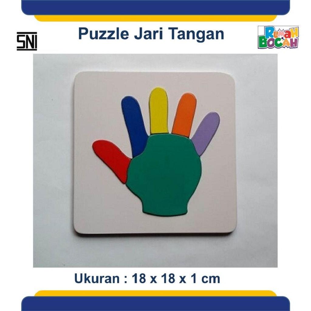 Puzzle Kayu jari tangan Untuk Anak