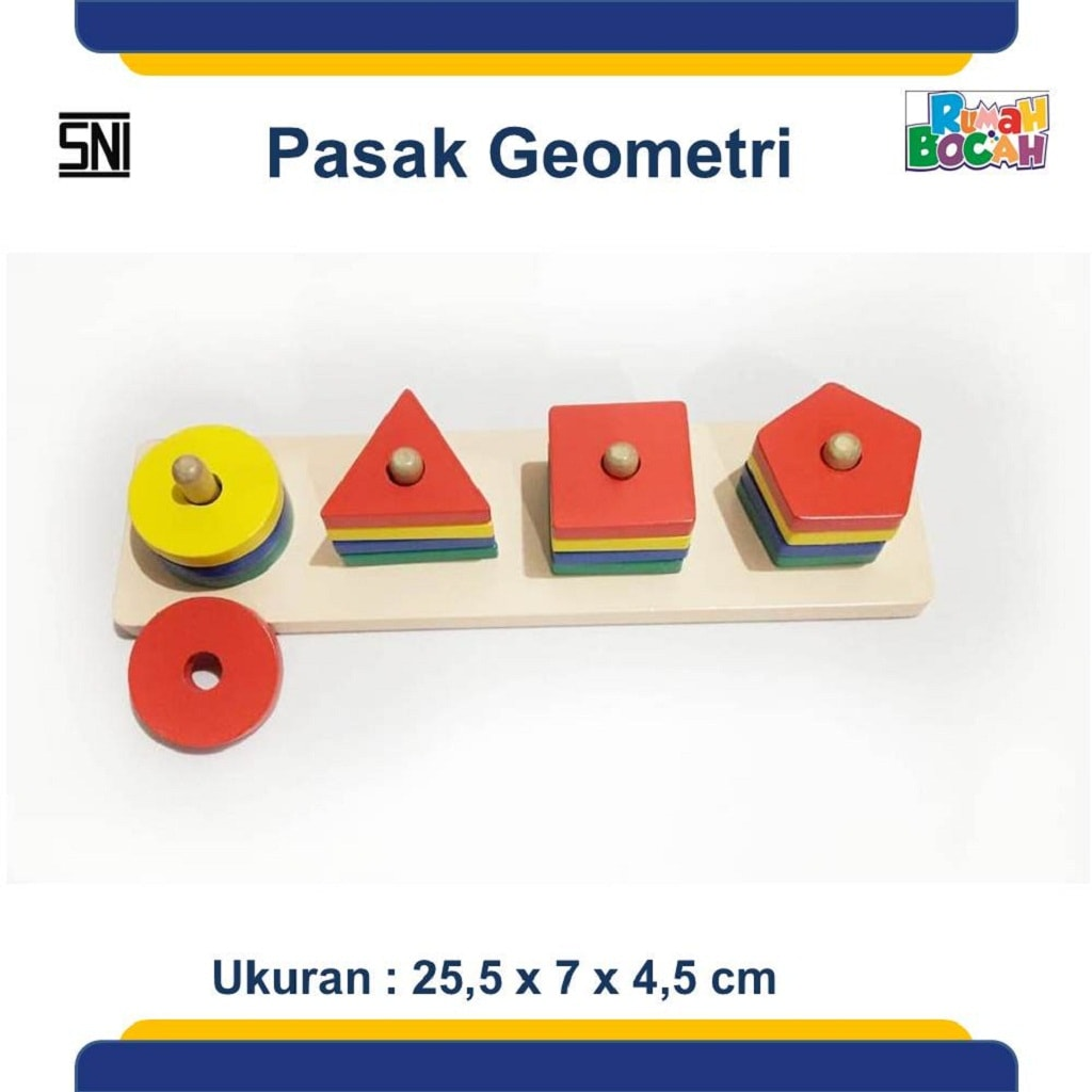 Jual Mainan Edukatif Anak 3 Tahun Pasak Geometri 1 Stik
