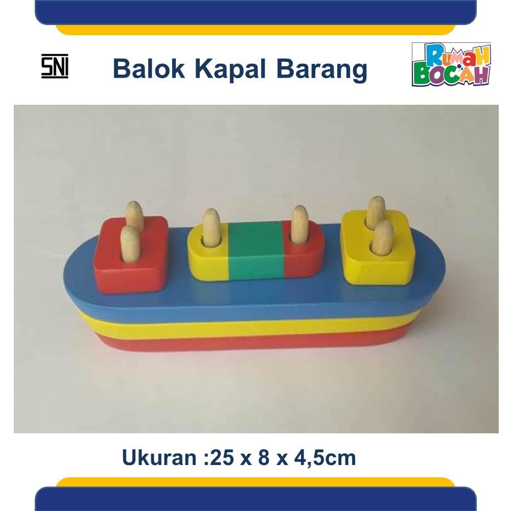 Jual Mainan Anak Edukatif Online Balok Kapal Boat