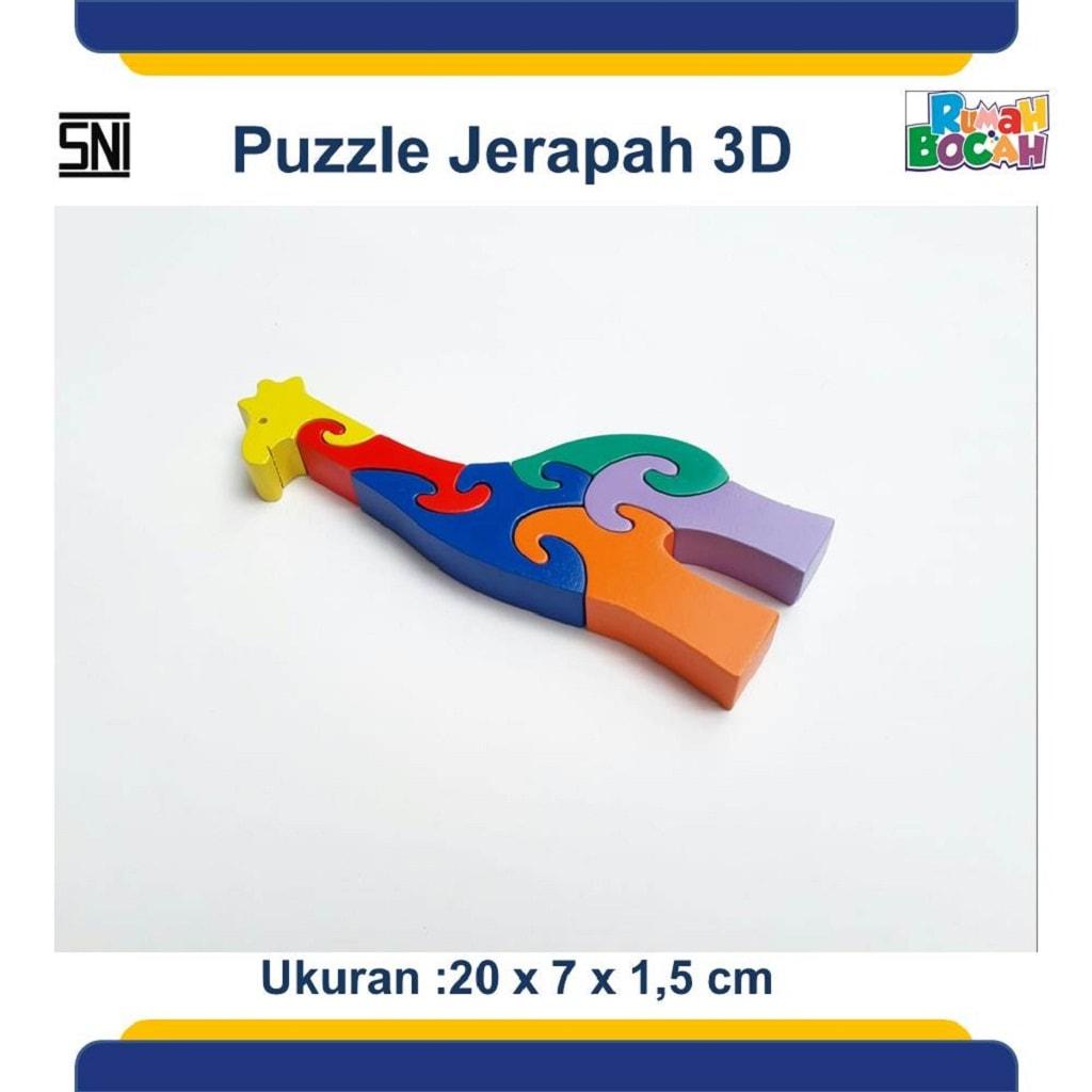 Grosir Puzzle Kayu 3D Hewan Jerapah Murah