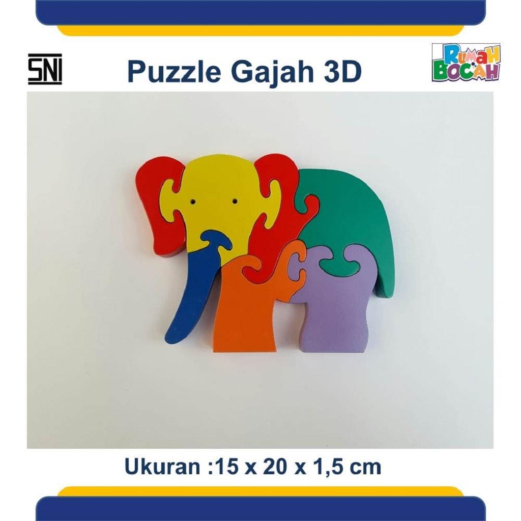 Jual Puzzle 3D Hewan Gajah Untuk Anak