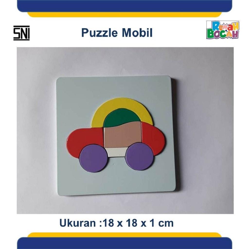 Grosir Puzzle Kayu Kendaraan Mobil Murah