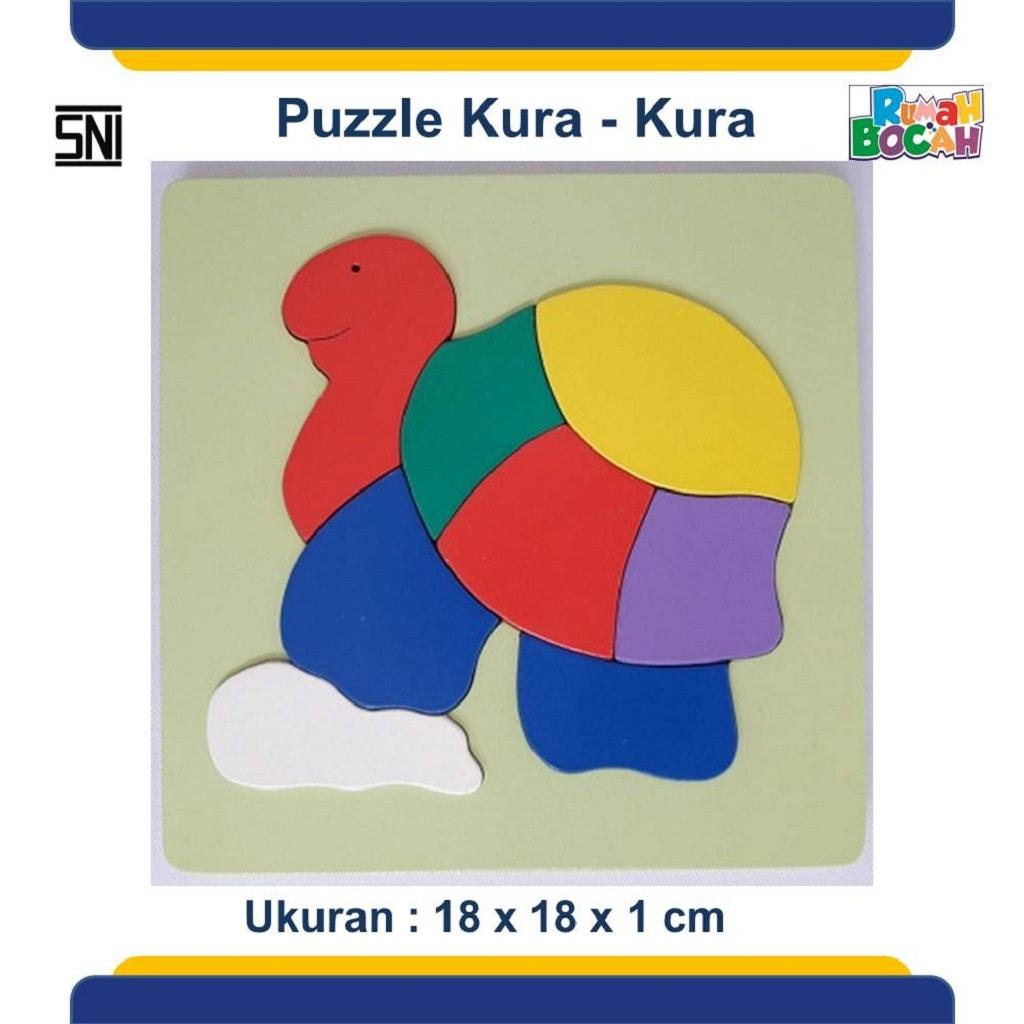 Jual Puzzle Kayu Hewan Kura - Kura