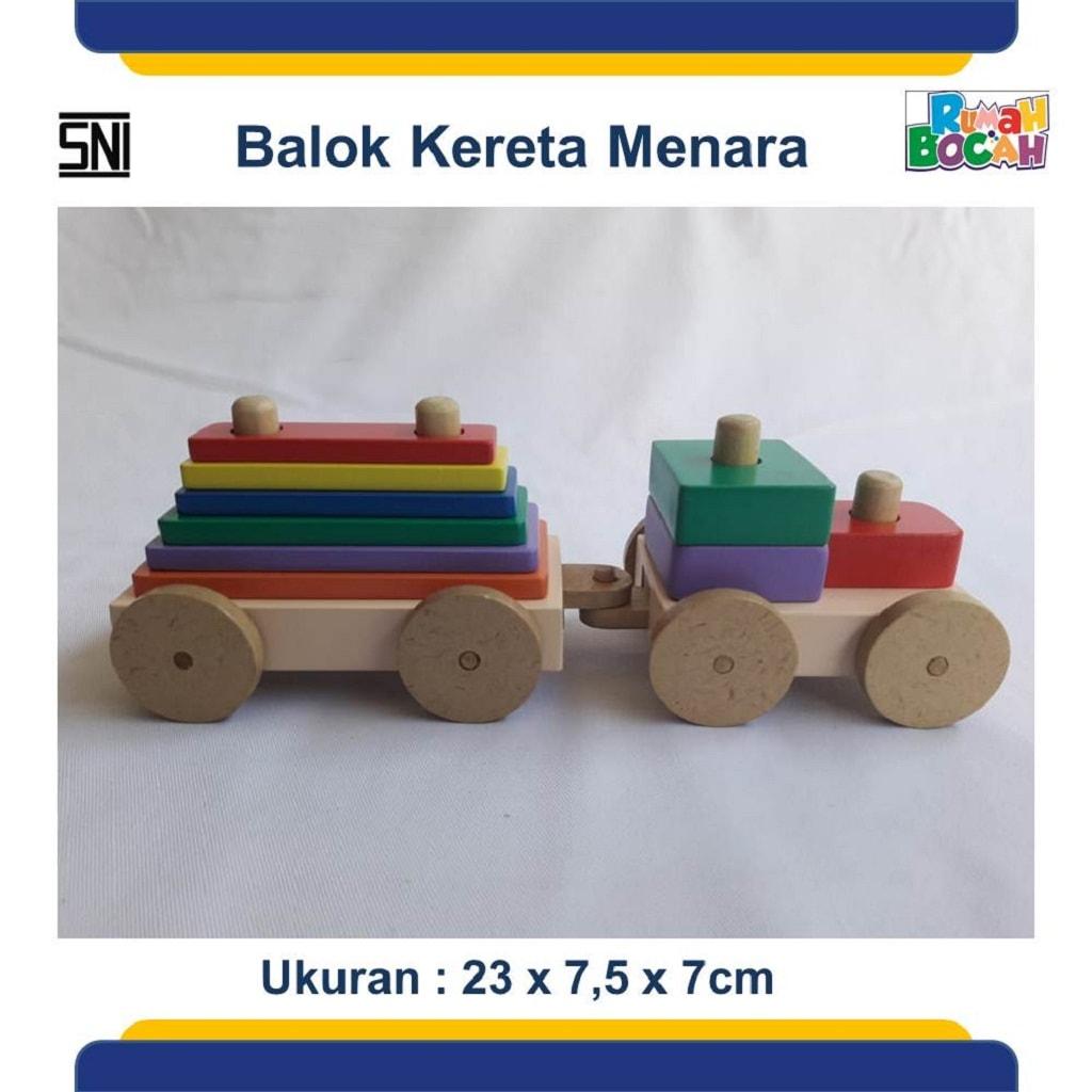 Toko Mainan Edukatif Balok Kereta Menara