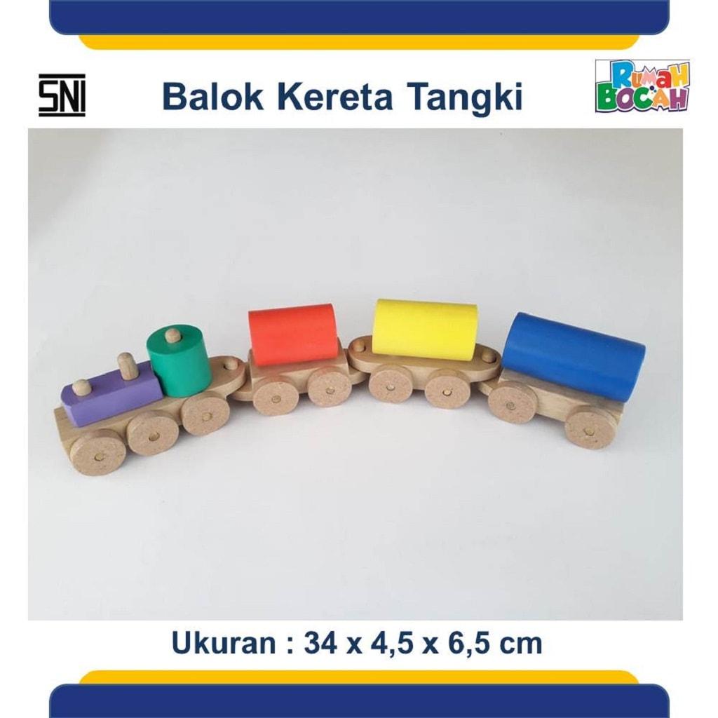 Grosir Mainan Anak Edukatif Murah Balok Kereta Tengki