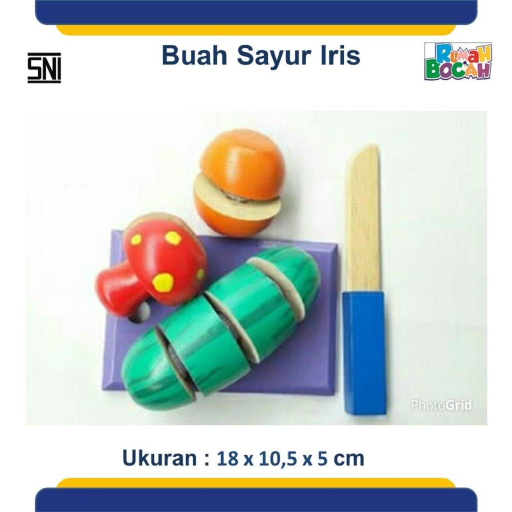 Jual Alat Peraga Tk Buah Sayur Potong Iris