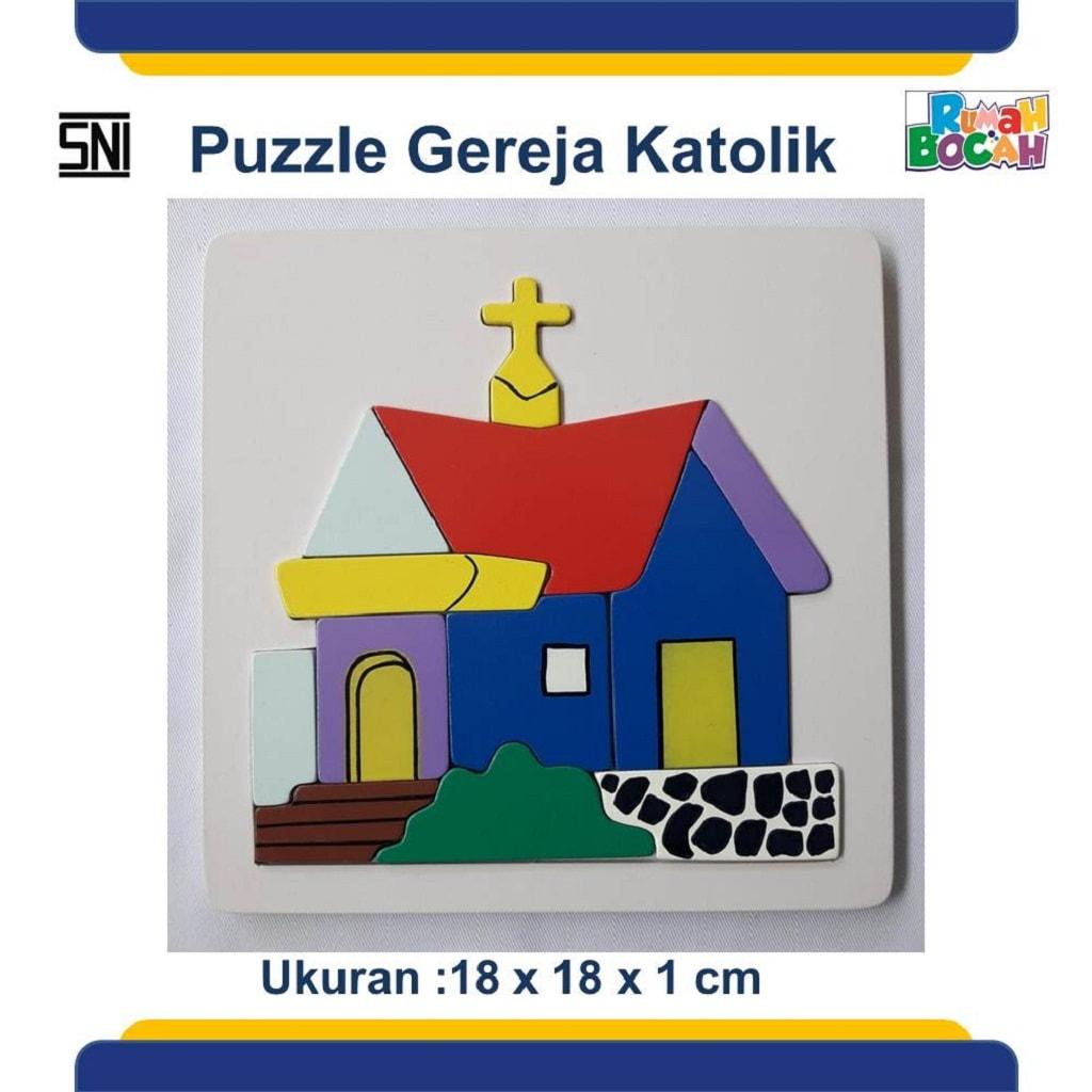 Grosir Puzzle Murah Rumah Ibadah Gereja Katolik