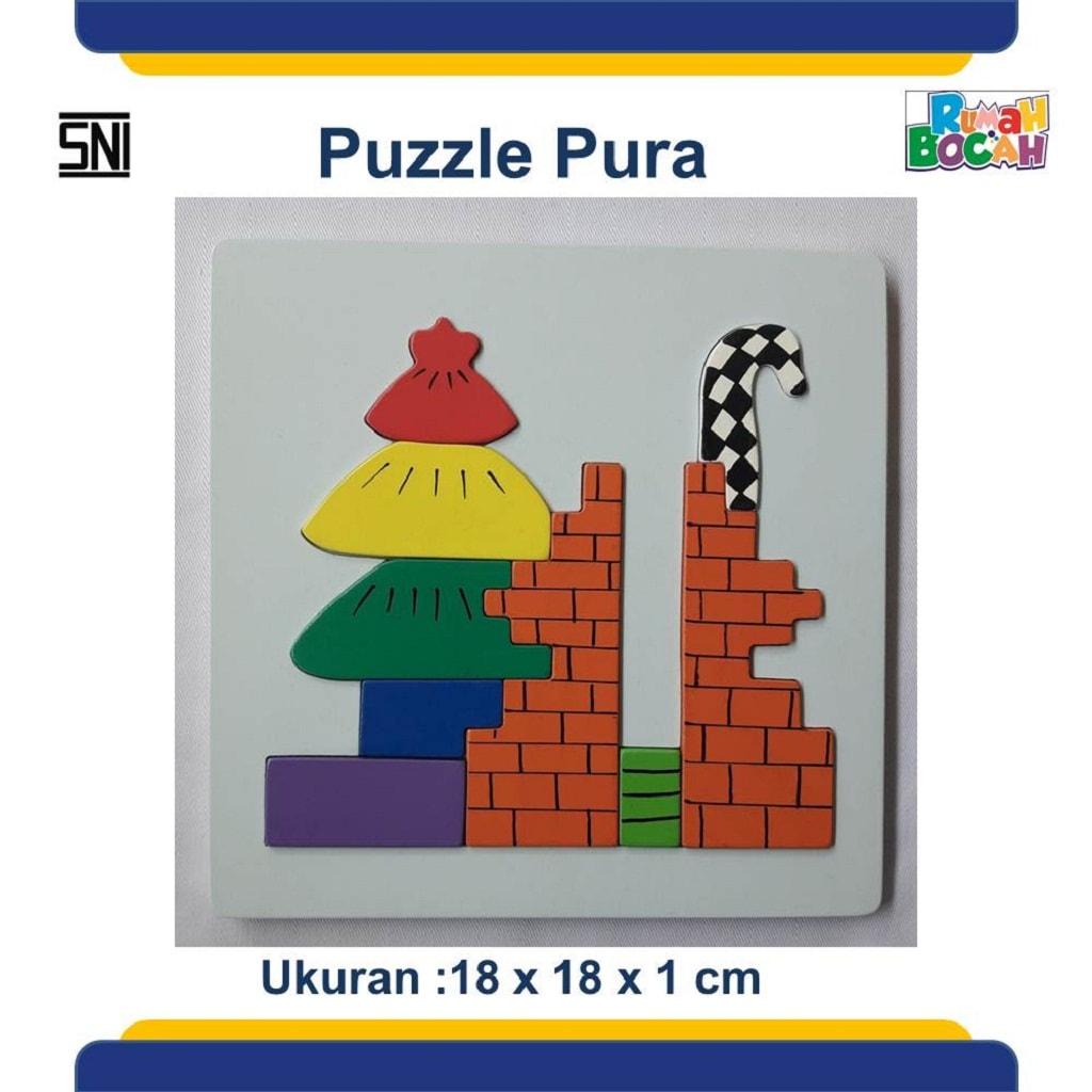 Jual Puzzle Kayu Rumah Ibadah Pura Anak