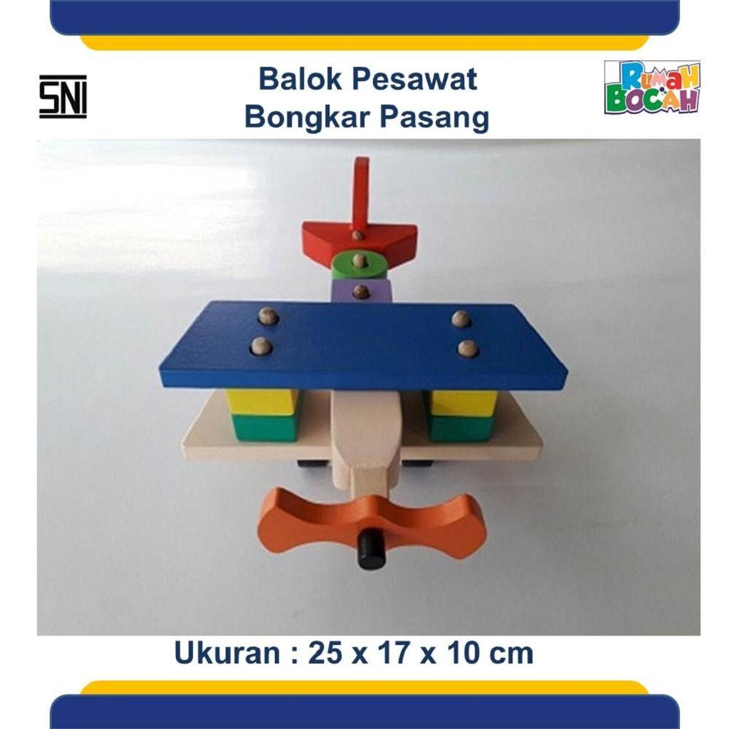 Toko Mainan Edukatif Balok Pesawat