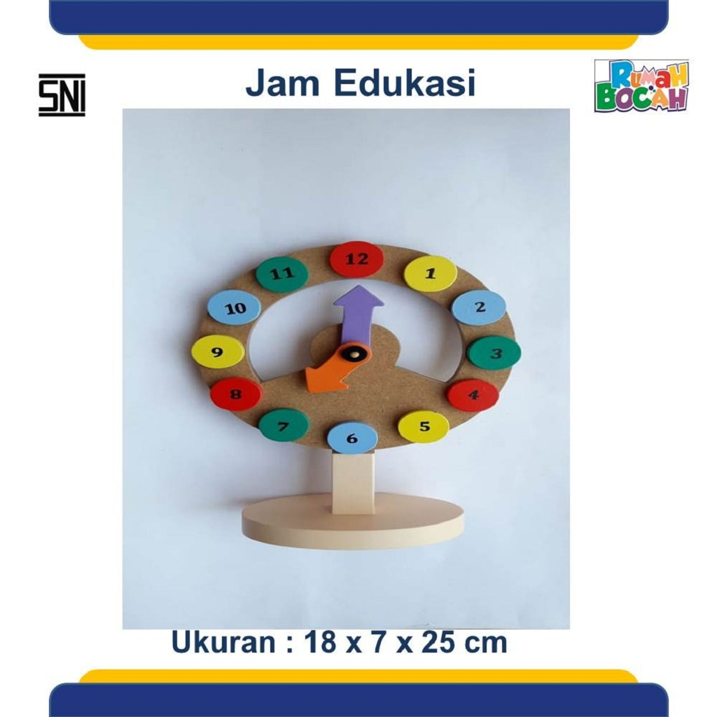 Jual Mainan Anak Dari Kayu Jam Edukasi