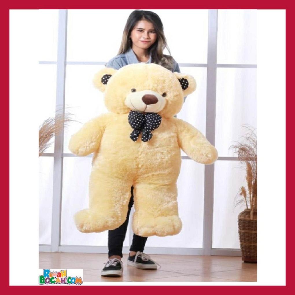 Mainan Kado Anak Perempuan Boneka BesarJumbo 1 Meter Beruang Teddy Bear Chosy Coklat Muda