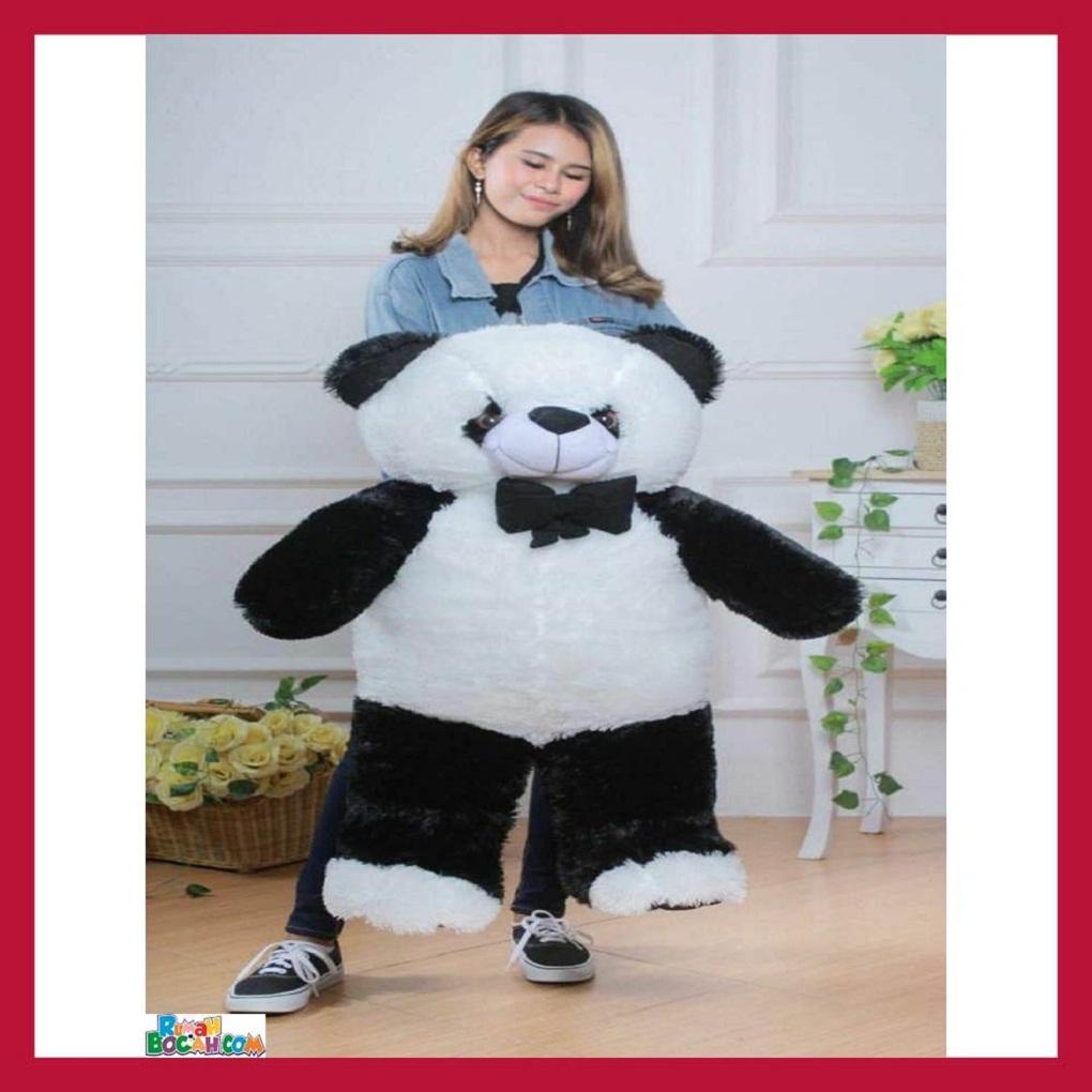 Mainan Kado Anak Remaja Perempuan Boneka Besar Jumbo 1 Meter Hewan Panda Sujum Bisa Dicuci SNI