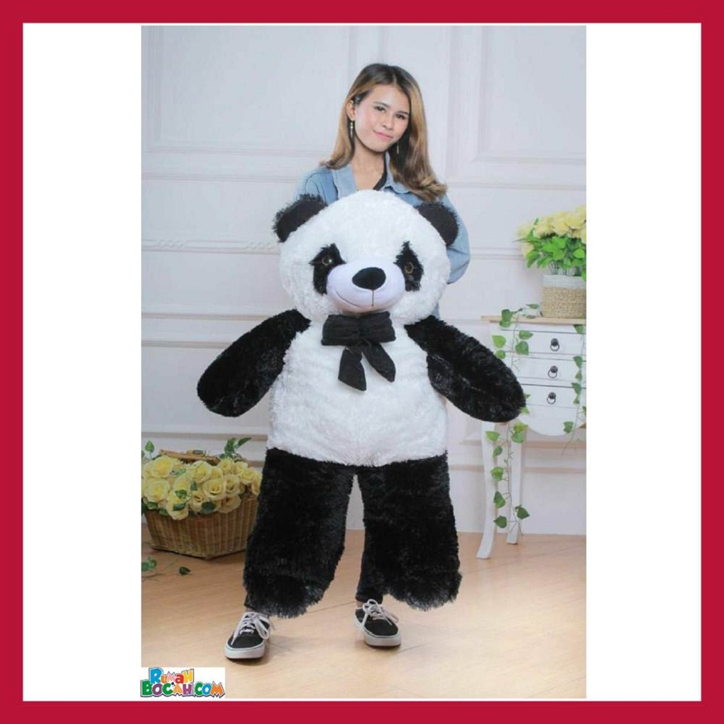 Mainan Kado Anak Remaja Perempuan Boneka Besar Jumbo 1 Meter Hewan Panda Sujum Bisa Dicuci SNI-min