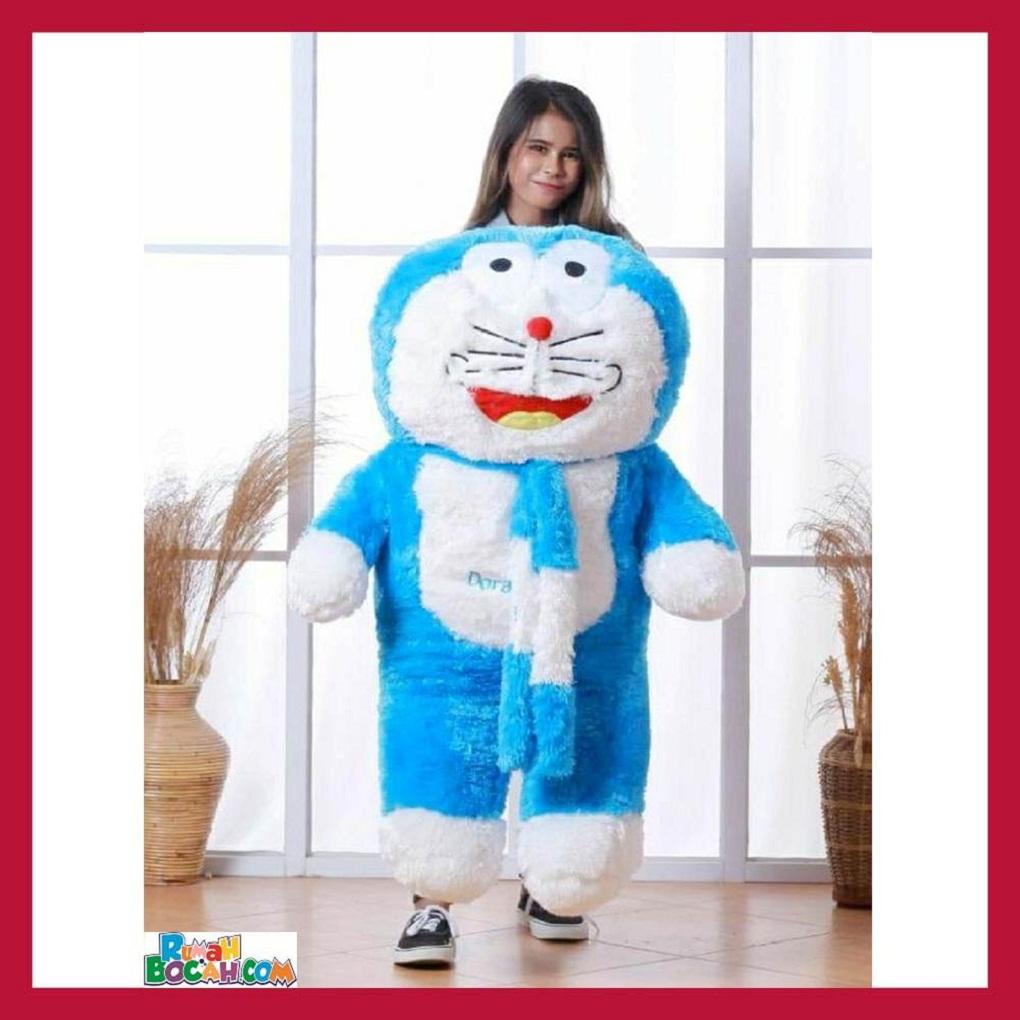 Mainan Kado Anak Remaja Perempuan Boneka Besar Jumbo 1 Meter Kucing Doraemon Syal Bisa Dicuci SNI