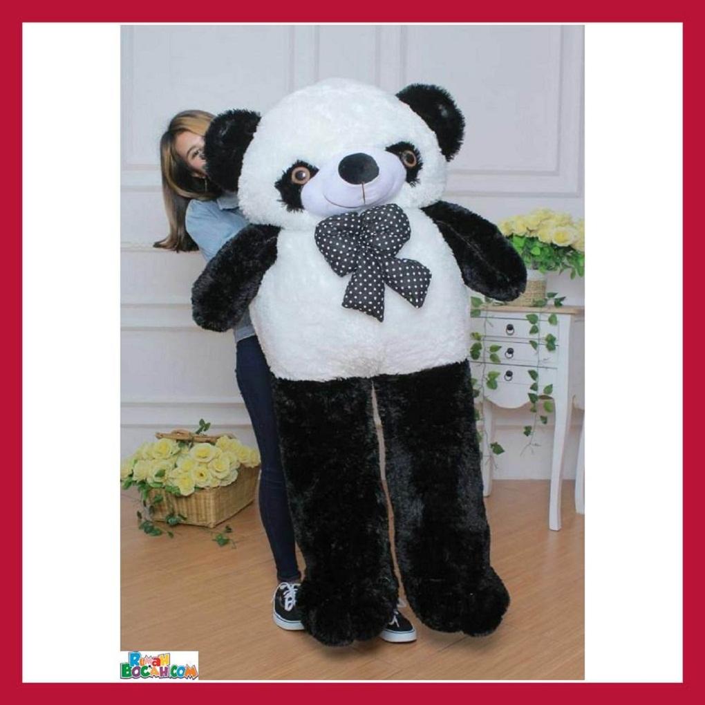 Mainan Kado Anak Remaja Perempuan Boneka Besar Jumbo 1,5 Meter Hewan Panda SPJ Bisa Dicuci SNI
