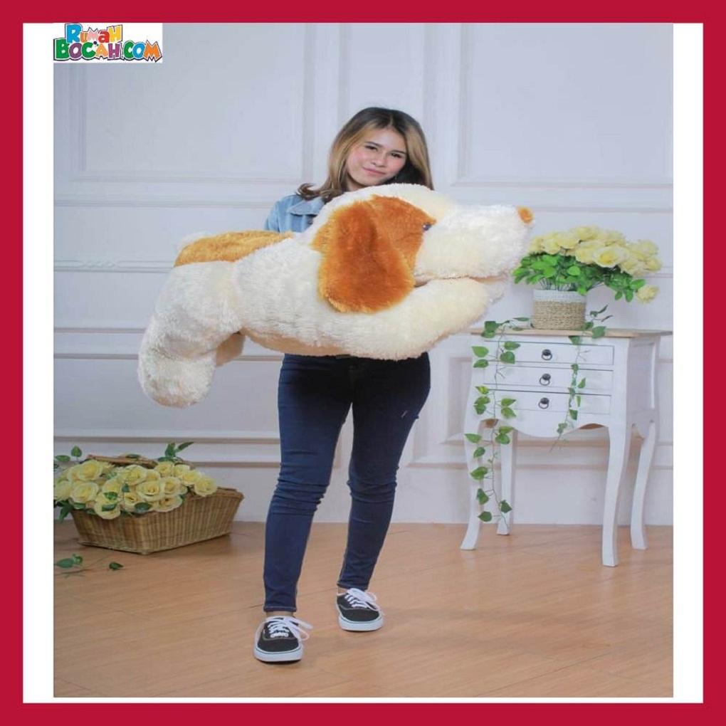 Mainan Kado Anak Laki Laki Perempuan Boneka Besar Jumbo 1 Meter Hewan Anjing Goopy-min