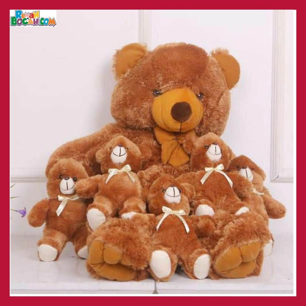 Mainan Kado Anak Remaja Sahabat Pacar Perempuan Cewek Boneka Jumbo Besar Hewan Beruang Teddy Bear Beranak-min