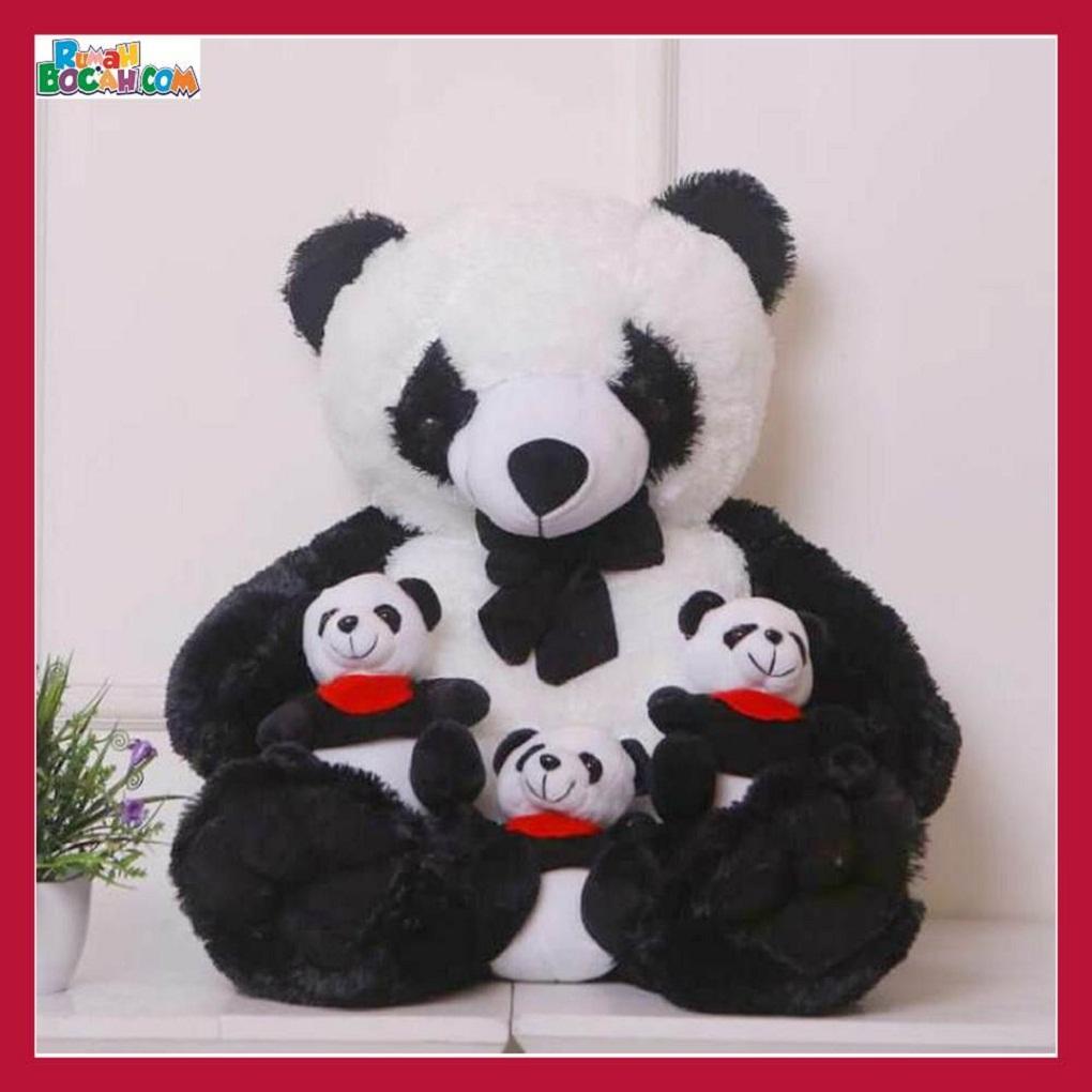 Mainan Kado Anak Remaja Sahabat Pacar Perempuan laki Laki Boneka Jumbo Besar Hewan Panda Beranak-min