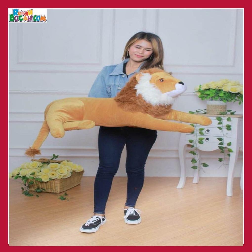Mainan Kado Anak Remaja Sahabat Pacar Perempuan laki Laki Boneka Jumbo Besar Hewan Singa-min