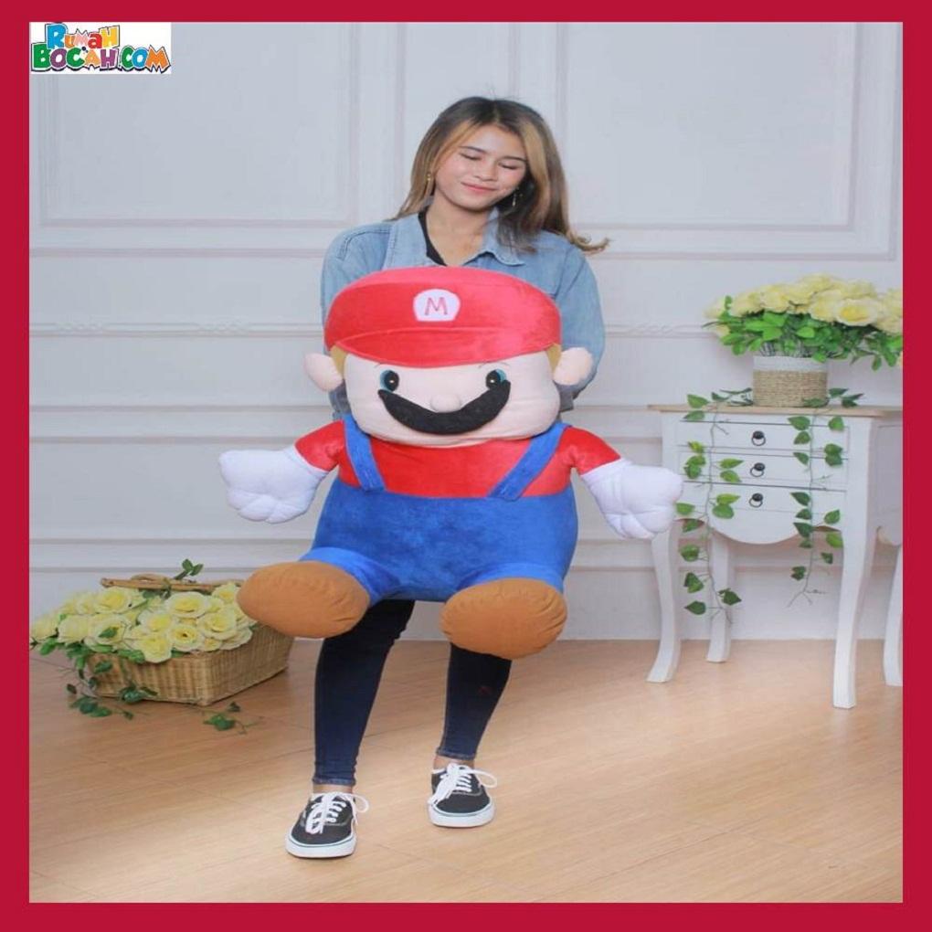 Mainan Kado Anak Remaja Sahabat Pacar Perempuan laki Laki Boneka Jumbo Besar Karakter Mario Bros-min