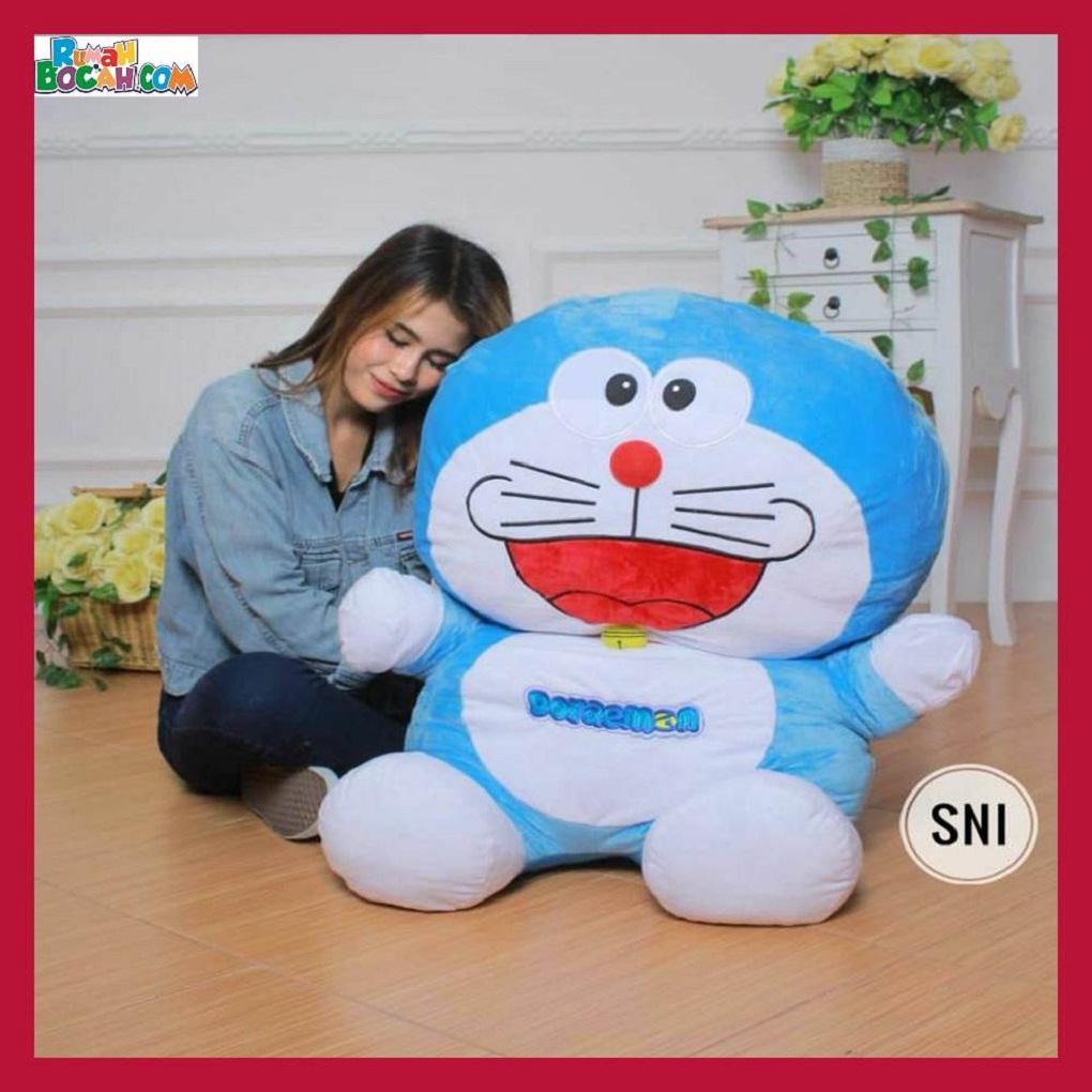 Mainan Kado Ulang Tahun Anak Remaja Sahabat Pacar Perempuan Cewek Boneka Besar Jumbo Doraemon-min