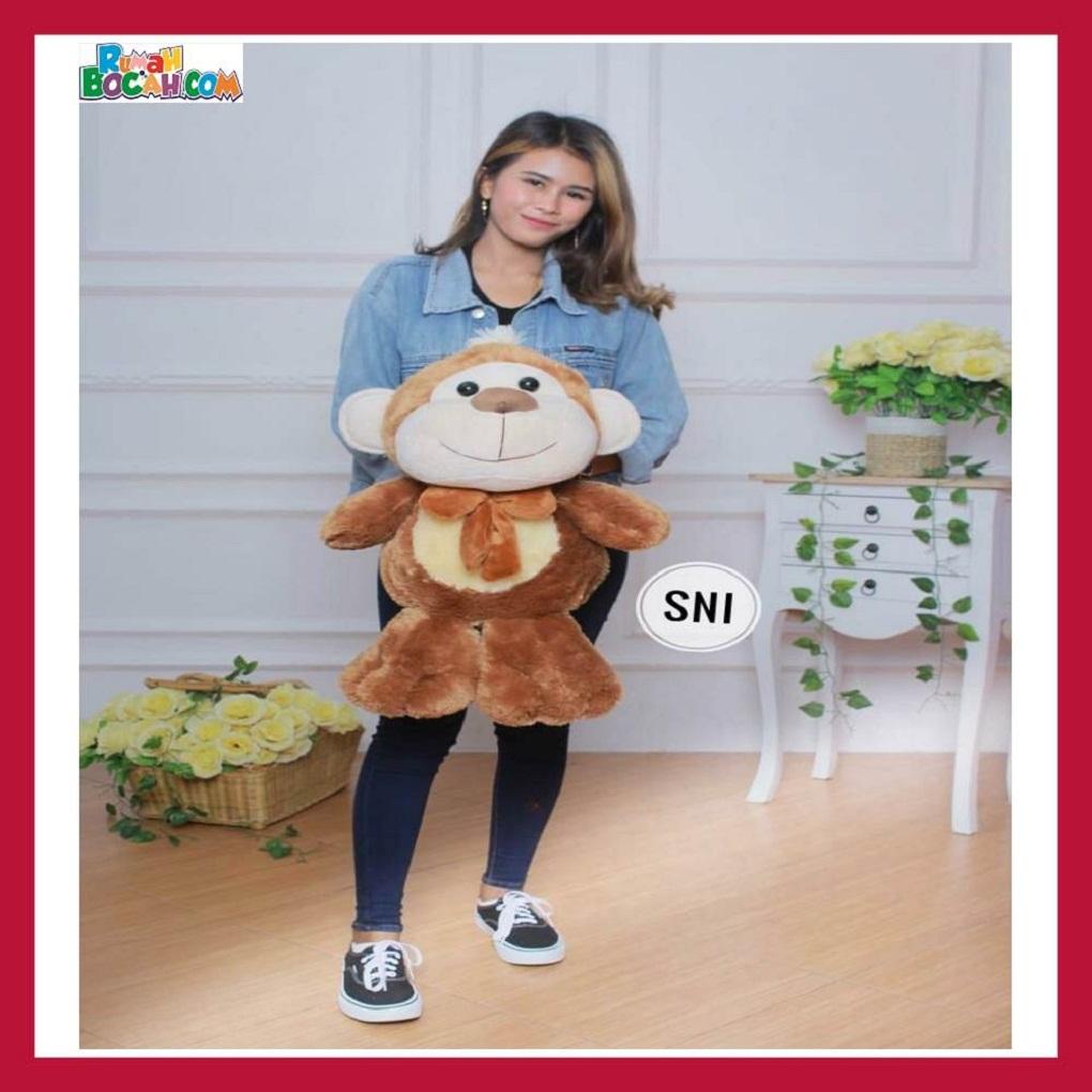 Mainan Kado Ulang Tahun Anak Remaja Sahabat Pacar Perempuan Cewek Boneka Jumbo Besar Hewan Monyet-min