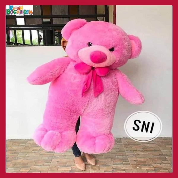 Mainan Kado Ulang Tahun Anak Remaja Sahabat Pacar Perempuan Cewek Boneka Besar Jumbo 1 m Big Teddy Pink-min (1)