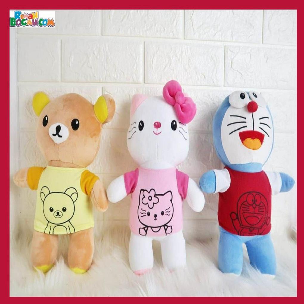 Mainan Kado Ulang Tahun Anak Sahabat Remaja Perempuan Cewek Boneka Karakter Skety Doraemon Rilakkuma Hello Kitty-min